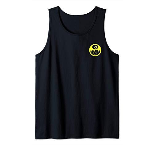 Marvel Iron Fist Pocket Yellow Logo Camiseta sin Mangas
