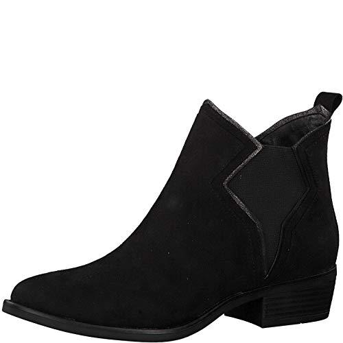 s.Oliver Damen Stiefeletten 25336-23, Frauen Chelsea Boots, weibliche Ladies feminin elegant Women's Women Woman Freizeit leger,Black,38 EU / 5 UK