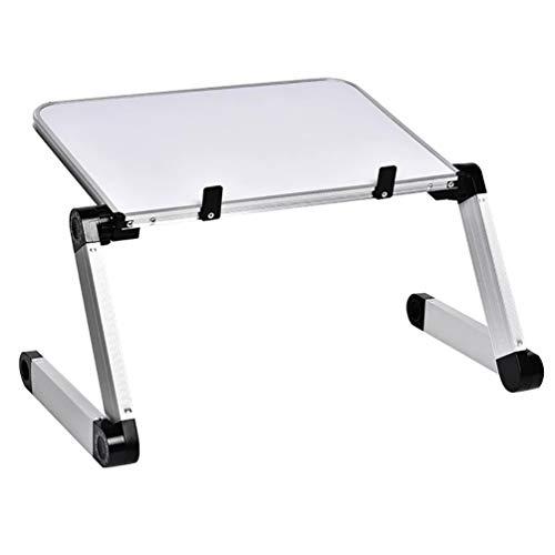 HQLCX Soporte de mesa de ordenador portátil plegable ajustable de aleación de aluminio para ordenador portátil, portátil, mesa de ordenador portátil, mesa plegable de escritorio, color blanco