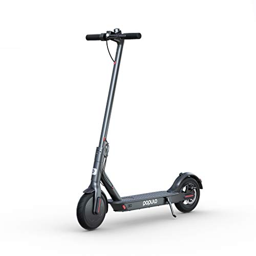 """Populo Electric Scooter - 8.5"""" Pneumatic Tires - Up to 14.5 Miles & 15 MPH Portable Folding Commuting Scooter for Adults with Double Braking System."""