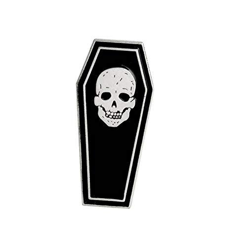 PCBDFQ Brosche Dunkle Sarg Pins schwarz dunklen Humor Broschen Abzeichen Rucksack Jeanshemd Anstecknadeln Punk Dead Schmuck Geschenk