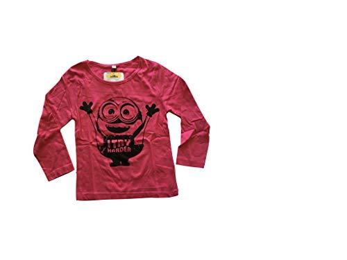MINIONS Langarmshirt in verschiedenen Farben und Designs (134, pink - Prime)