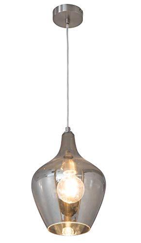 Pendelleuchte Deckenleuchte Deckenlampe | Glas | Grau | 1-flammig