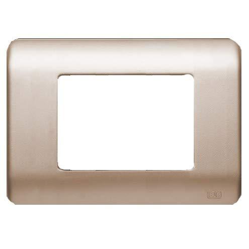Bjc rehabitat - Placa con bastidor 3 estrecho 1 ancha+1 estrecho dorado