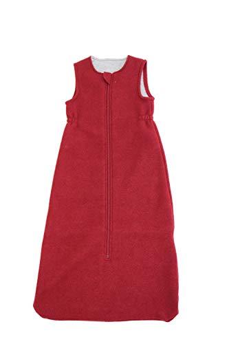 Disana Walk-Schlafsack ohne Arm 100% Bio-Merino-Schurwolle (Bordeaux, 03-100 cm)