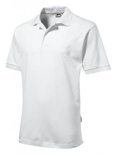 Slazenger Polo en 100% coton pour loisirs, tennis, golf Large Weiss