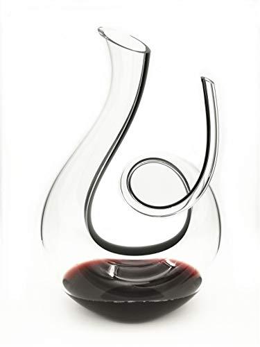 YLB Decantador de Vino de Swan, Vidrio de Cristal sin Plomo con ventilación a Mano, aireador de Vino clásico de 1500 ml, Jarra de Vino Tinto, Accesorios de Vino, Regalos de Vino (53oz)