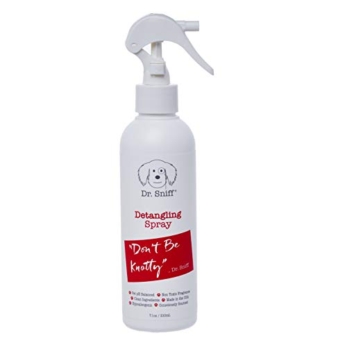 Dr. Sniff Pet Detangling Spray | Don't be Knotty | Natural Dematter for Long Haired Dogs and Cats | Natural Conditioner Substitute | Made in The USA - 7.1 oz.