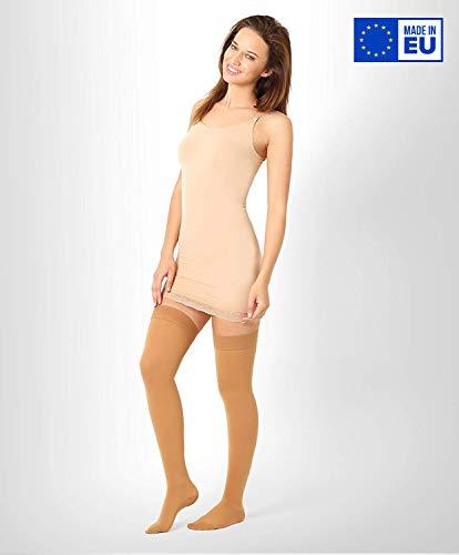 ®BeFit24 Abgestufte medizinische Kompressionsstrümpfe (23-32 mmHg, 120 Den, Klasse 2) für Damen und Herren - Stützstrümpfe - Medical Compression Stockings - Karamell
