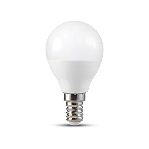 Lampadina LED E14 5W P45 Compatibile con Google Home e Amazon Alexa Tramite App V-Tac Smart RGB e 3 in 1 Dimmerabile