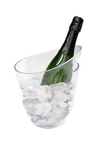vin bouquet Transparent 1 Bottle Ice Bucket Secchiello portaghiaccio Trasparente per 1 Bottiglie