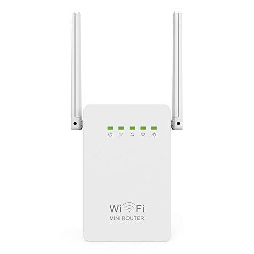 LYzpf Repeteur WiFi Répéteur Amplificateur de Signal 2.4GHz 300Mbps Extension sans Fil Portée Routeurs Réseau Booster Accessoires Installation Facile