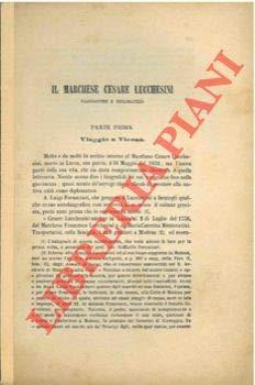 Il marchese Cesare Lucchesini viaggiatore e diplomatico.
