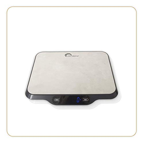 LITTLE BALANCE 8123 Parfait 15 - Balance postale, pèse colis jusqu'à 15kg - Maintien de l'affichage pour les colis volumineux