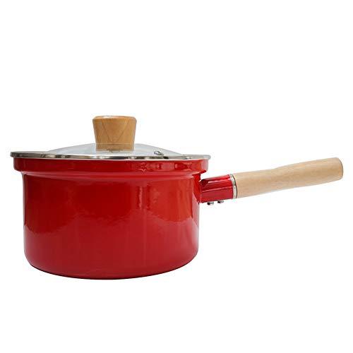 Kookgerei Bodemijzer, geëmailleerd gietijzer Nederlandse Oven Hulpmiddel Voedsel Cooker Inductie Cooker Hittebestendige Anti-Scaling Handvat voldoen aan de verschillende soorten koken en bakken