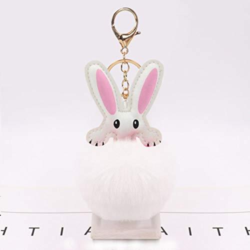 ZMKW Llavero de Coche Amantes Bolsas de Conejo Colgantes Hombre Mujer Regalo de Felpa de Calidad Genuino Conejo Rex Traje de Felpa Conejo Colgante Conejito Nacimiento