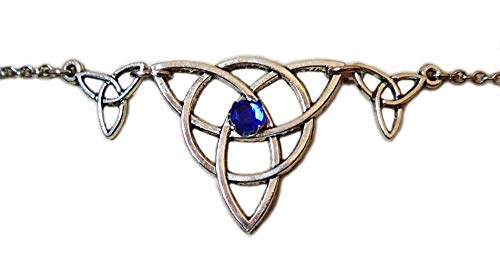 Moon Maiden Jewelry Celtic Triple Triquetra Trinity Headpiece Dark Blue