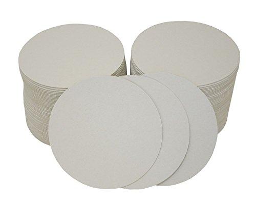 folia 2325 - Blanko Bierdeckel, Bierfilze, rund, Durchmesser 10,7 cm, 100 Stück - unbedruckt zum Selbstgestalten