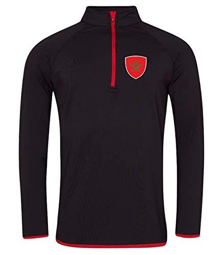 Nation Marokko Sweatshirt Sport Atmungsaktiv UV-Schutz JC-GO SC-R (XXL)