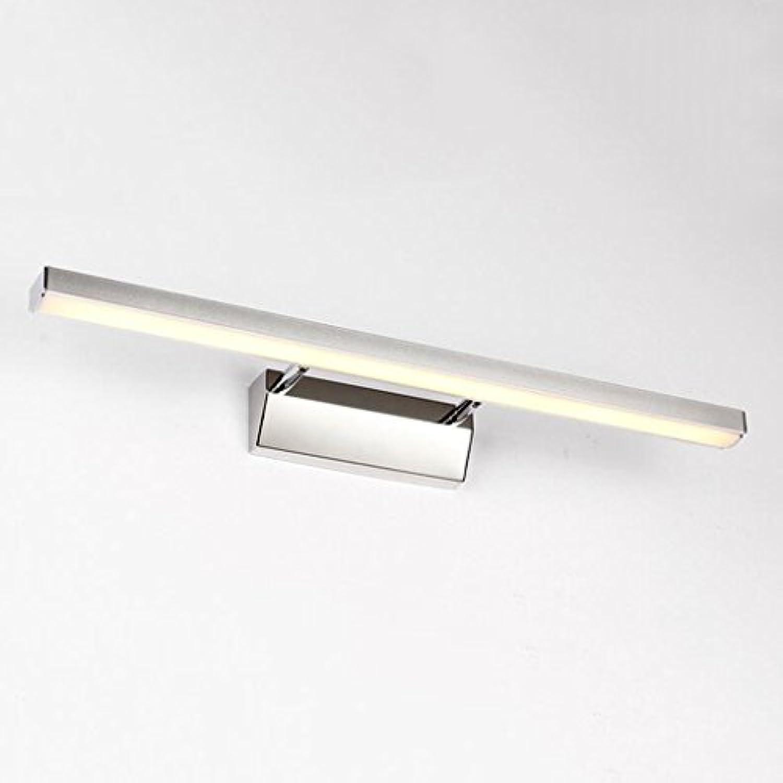 HMer LED Spiegelleuchte Schranklampe Spiegelfrontlicht Wassernebel WC Spiegelschrank Lichter Bad Make-up Lichter modern einfach Wandlampe warmes Licht 40cm 7W