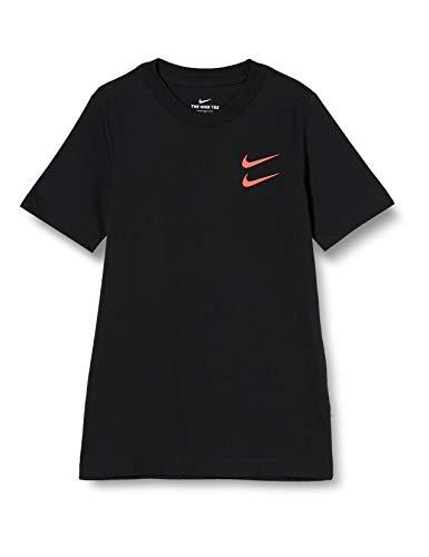 NIKE Swoosh Pack Camiseta Garcon, Black, FR: S (Talla Fabricante: S)