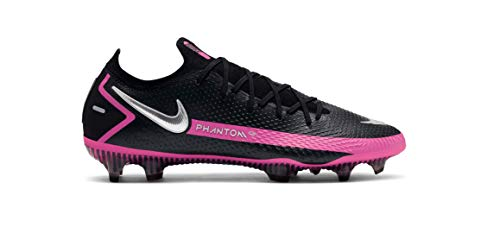 Nike Phantom GT Elite FG Black/Metallic Silver/Pink Blast CK8439-006 Men's Soccer Cleats 8.5 US
