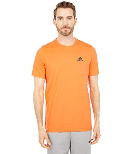 adidas mens Designed to Move FEEL.RDY T-Shirt True Orange/Black Large