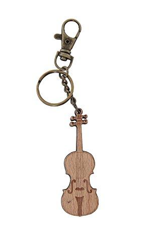 GEWA 978912 Unisex-Anhänger Schlüsselanhänger, Motiv: Violine Holz