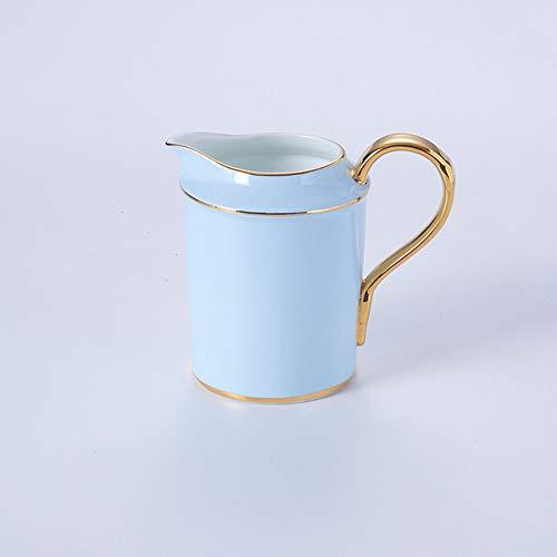 Ontwerp bone china blauwe goud luxe koffie, thee kopjes suiker geavanceerde kostbaar porselein keramische schalen, theepotten,CREAMER 280 ml