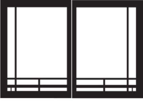 Check Out This Empire Comfort Systems Mission Rectangle Door Set for Tahoe Deluxe Fireplaces - Matte...