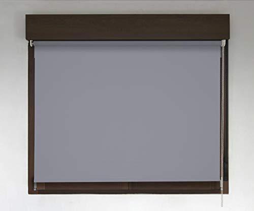 Estor TÉRMICO Opaco Premium (Desde 40 hasta 300cm de Ancho, no Permite Paso de la luz y sin Visibilidad Exterior). Color Gris Oscuro. Medida 146cm x 320cm para Ventanas y Puertas