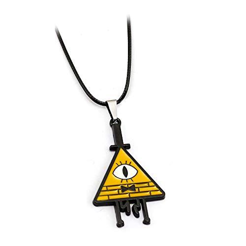 Cartoon Gravity Falls Bill Gravity Falls Zeit Juwel Charm Halskette Schlüsselhalter Cosplay Party Geschenk Mabel Pines Dipper Freunde Geschenke (A)