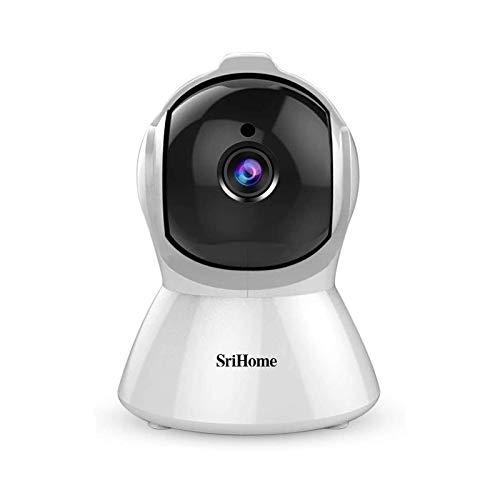 Caméra de Surveillance WiFi Intérieur, SriHome Caméra IP WiFi 1080P avec Détection de Mouvement, Audio Bidirectionnel pour la Maison AL-Auto Tracking