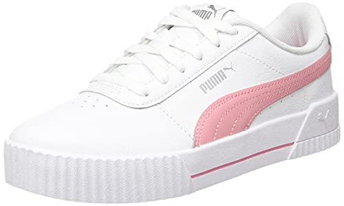 PUMA Carina L Jr Sneaker, White Peony, 37 EU