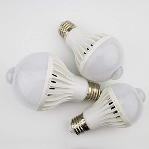 LED PIR Bewegungsmelder Lampe 3W 5W 220V LED Birne 7W 9W Auto Smart LED PIR Infrarot Körper Licht E27 Bewegungsmelder Licht 3W Sound kaltweiß