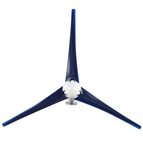 Turbina eolica piccola 1600w, turbina eolica a 3 pale, ricarica domestica marina(blue12V)