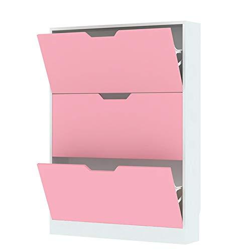 Rack da Scarpe da Scarpe a 3 Strati a 3 Strati di stoccaggio per cartongesso Blu Bianco 80 * 17 * 108 cm Xuan - Worth Having (Color : Pink, Size : 80 * 17 * 108cm)