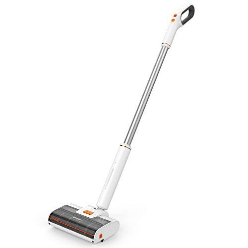 Behow 3in1 コードレス 掃除機 WYPE スティッククリーナー 水拭き 乾拭き 両用 フローリング 電動モップ 機能 無段階ヘッド スタンド式 静音 最大60分連続駆動 ホワイト