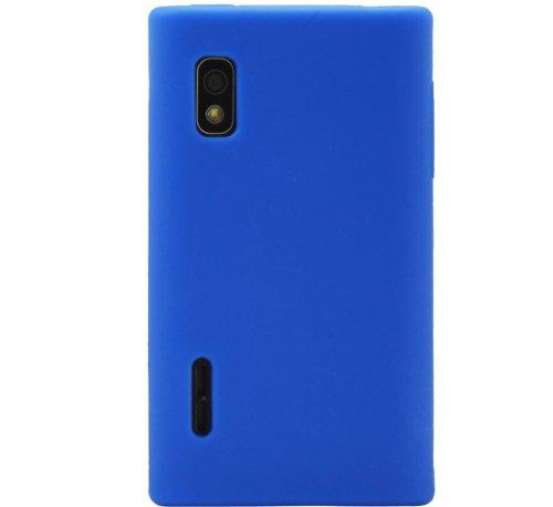 Luxburg®® In-Colour Design Custodia Cover per LG Optimus L5 E610 colore blu, in silicone