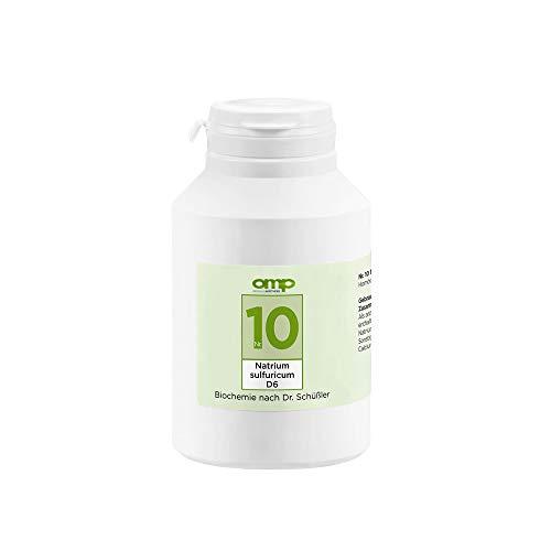Schüssler Salz Nr. 10 Natrium sulfuricum D6 | 1000 Tabletten | Das Salz der inneren Reinigung und Ausleitung | glutenfrei