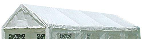 DEGAMO Ersatzdach Dachplane für Profi Partyzelt 4x8 Meter, PVC Weiss 480g/m², incl. Spanngummis …