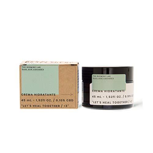 THE BEEMINE LAB Feuchtigkeitscreme mit Hanföl, CBD 50 mg und Honig - Empfindliche oder gereizte Haut - 45 ml (1,52 fl OZ.)