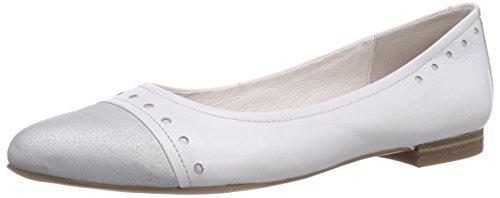 CAPRICE Damen 22114 Geschlossene Ballerinas, Weiß (WHITE/100), 40 EU