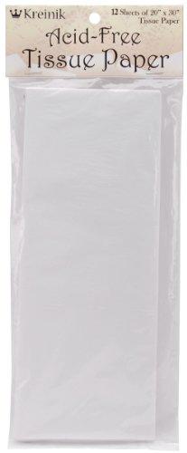 Kreinik - Papel de Seda sin ácidos, 20 x 30 Pulgadas, 12 Unidades