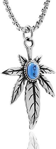 LLJHXZC Collar Collar con Colgante de ala de Resorte de Acero Inoxidable para Mujer y Hombre, Falda Punk, Collares de Plumas, Regalo de joyería