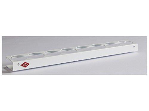 WESCO Gewürzboard für 8 Behälter, Weiß pulverbeschichtet, 55 x 7,6 x 3 cm