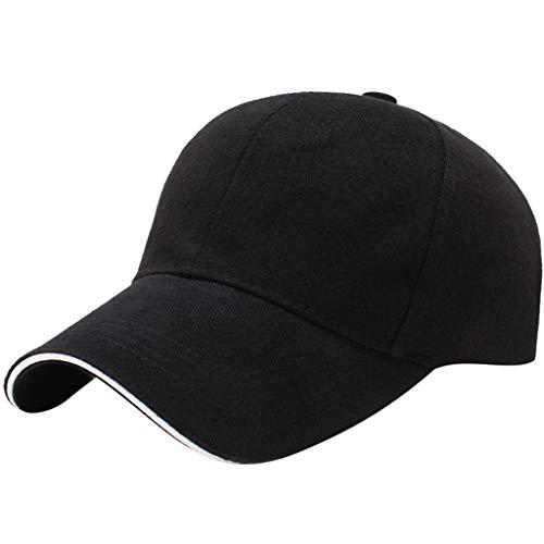 zhushuGG Basecap, Unisex/Herren Damen Verstellbarer Baseball Mütze Cap Freizeit Schirmmütze für Outdoor Sport Golf Picnic (B-Schwarz)