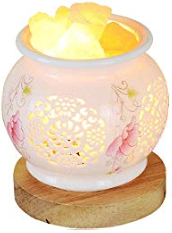 ZHANG NAN ●  Crystal Salt Tischlampe Himalaya Nachtlicht Koreanische Studie zum Strahlenschutz Keramik Tischleuchte Warmes Schlafzimmer Nachttischlampe Kreative Beleuchtungskrper Hhe  14 cm ●