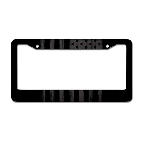 Camisin Car License Plate Frame Aluminum Alloy Steel American General Automobile License Plate Frame Plate Frame