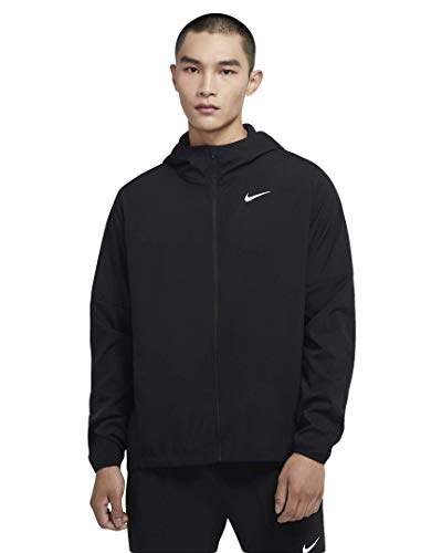 Nike Flex Dri-Fit CU5353-010 - Chaqueta para correr (talla M), color negro y plateado